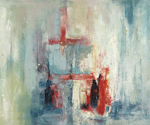 Bunte-kunst-druck (3D-Druck auf Leinwand, buntes abstraktes Ölgemälde, moderne Kunst mit Holzrahmen, Wanddekoration für Wohnzimmer, Schlafzimmer, Schlafsaal, fertig zum Aufhängen, 50,8 x 61 cm Abstract Color3)