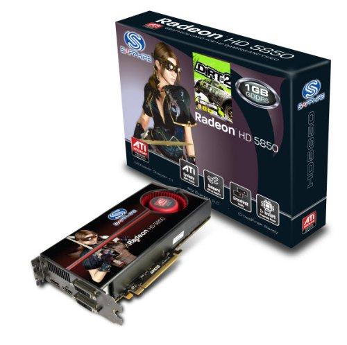 Sapphire ATI Radeon HD5850 Grafikkarte (PCI-e, 1GB GDDR5 Speicher, DVI-I / HDMI, 1 GPU) Full Retail