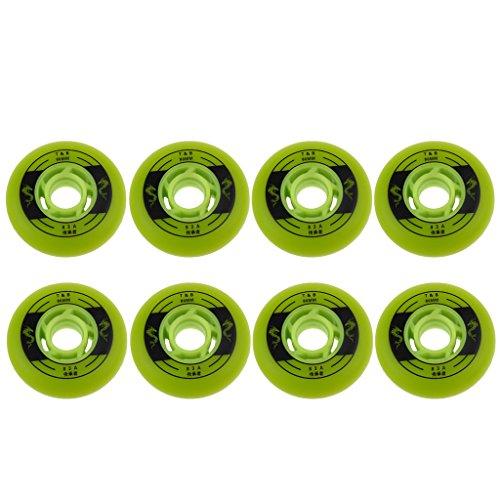 SM SunniMix 8 Stü Indoor Outdoor Roller Hockey Inline Skate Räder Griff 72 76 80mm - Grün, 80mm -