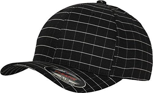 Flexfit Erwachsene Mütze Square Check Cap, Blk/Wht, L/XL
