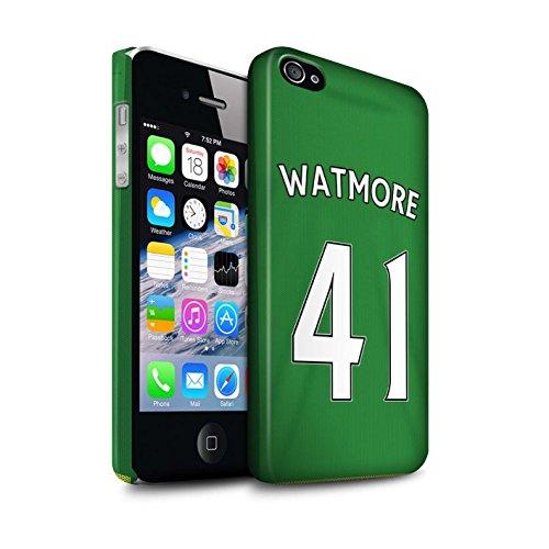 Offiziell Sunderland AFC Hülle / Matte Snap-On Case für Apple iPhone 4/4S / Pack 24pcs Muster / SAFC Trikot Away 15/16 Kollektion Watmore