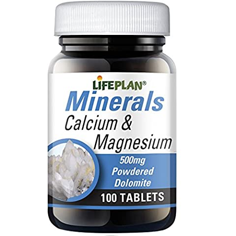 Lifeplan 500 mg Calcium and Magnesium - Pack of 100 Tablets