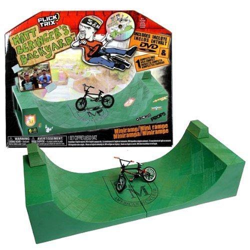 Flick Trix /12040/ Mini rampa de Matt Beringer + 1 x Mini dedo bicicleta de montaña BMX bicicleta