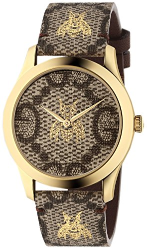 Gucci YA1264068 BROWN STEEL 316 L Woman Watch