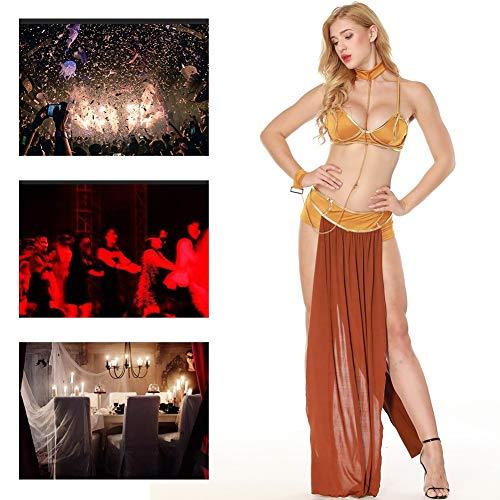 Schwarz Tänzerin Kostüm Arabische - JH&MM Halloween Kostüm Frauen Sexy Göttin Arabische Tänzerin Dress Set Dress Up Rollenspiel Maskerade Kostüm,M