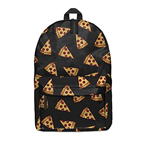 FRINGOO Unisex Boys Girls Backpack School Rucksack Fully Printed Cabin Luggage Travel Gym (H42 x L31 x W21 cm, Pizza