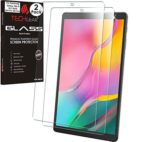"""vetro temperato tablet samsung galaxy tab a 6 [2 pezzi] TECHGEAR VETRO Edizione pellicola protettiva Compatibile con Samsung Galaxy Tab A 10.1"""" 2019 (SM-T510 / SM-T515)"""
