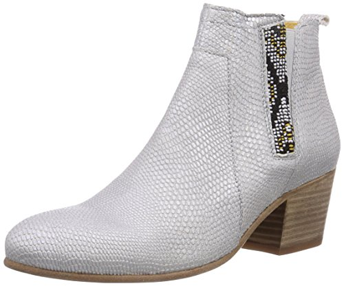 Goldmud Tabora Damen Chelsea Boots Weiß (Caprinos off white/Luca olive)