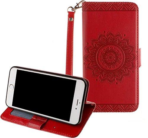 Preisvergleich Produktbild Neu Design für Apple iPhone 7 Hülle, Relief Mandala Serie 3-in1 Bunt Leder hülle