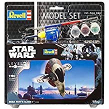 Revell Maqueta de Star Wars Boba Fett 's Slave I en escala 1: 160, nivel 3, réplica exacta con muchos detalles, Model Juego con base accesorios, fácil pegar y para pintarlas, 63610