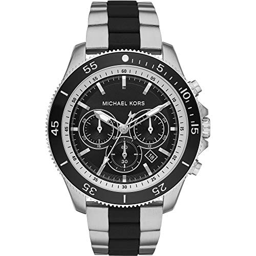 Michael Kors MK8664 Theroux Chronograph Two-Tone Black and Silver Two-Tone Stainless Steel Men's Watch