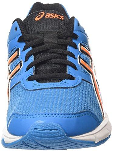 Asics Gel-Galaxy 8 Gs, Chaussures de Running Compétition Mixte Enfant Bleu (Methyl Blue/Hot Orange/Black 4230)