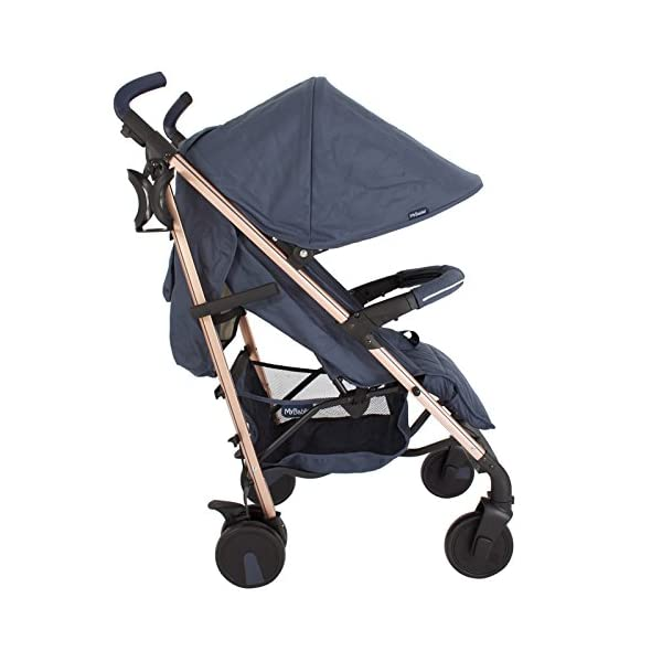 My Babiie Billie Faiers MB51 Rose Navy Stroller  Suitable from birth to maximum 15kg Extendable 3 position canopy Lockable swivel front wheels 2