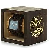 Wood Fellas,Legno Fellas Sanur Logo Grano Orologio in legno, orologio di legno, orologio, eco, natura, Moderno (Wave/Brown)