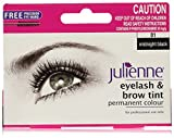 Julienne, Mascara permanente per ciglia e sopracciglia, Midnight Black 01, 15 ml