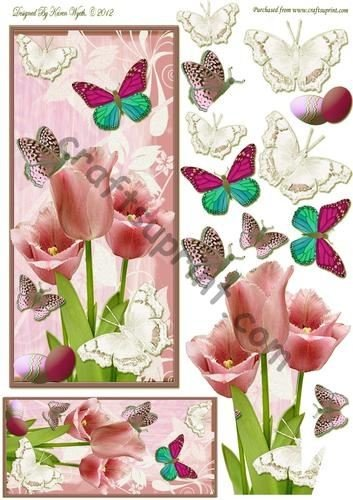 easter-tulip-flutters-and-bookmark-by-karen-wyeth