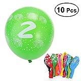 TOYMYTOY 10pcs No.2 Globos de látex para la decoración de la boda del partido 2.8g Globos Juguete para los niños que se divierten (color al azar)