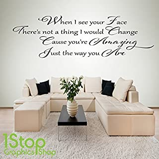 1Stop Graphics Shop - BRUNO MARS AMAZING WALL STICKER QUOTE - BEDROOM LOVE WALL ART DECAL X227 - Colour: Black - Size: Large