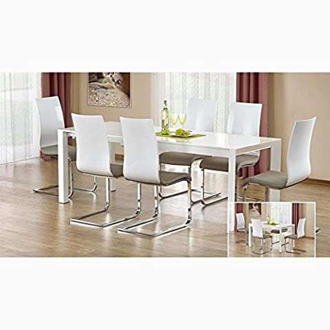 JUSThome Table de salle ? manger Stanford XL extensible Blanc