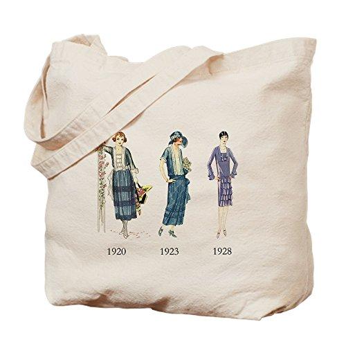 CafePress–1920er–Leinwand Natur Tasche, Reinigungstuch Einkaufstasche S khaki (Vamp-nähen)