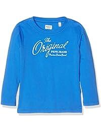Pepe Jeans PB501075, Camiseta de Manga Larga Para Niños, Azul (Middle Blue), 8 años