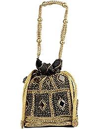 tbh Women's Potlis (Black & Gold)