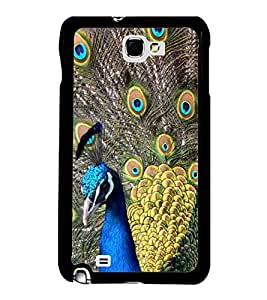 Printvisa Ultra Dancing Peacock 2D Hard Polycarbonate Designer Back Case Cover for Samsung Ga...