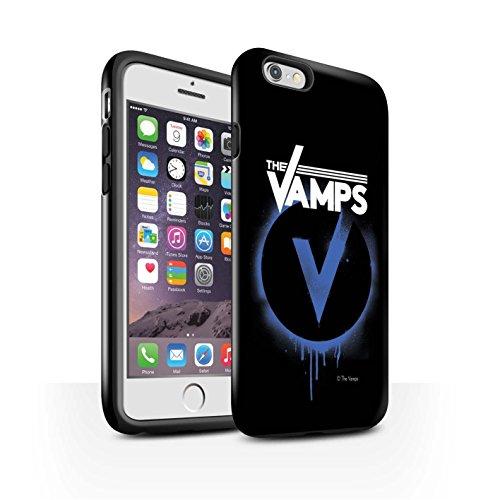 Offiziell The Vamps Hülle / Glanz Harten Stoßfest Case für Apple iPhone 6 / Pack 6pcs Muster / The Vamps Graffiti Band Logo Kollektion Blau V