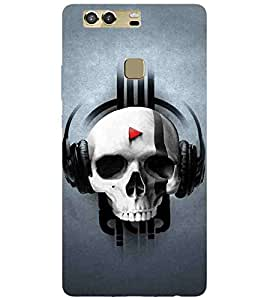 Cartoon, Black, Cartoon and Animation, Printed Designer Back Case Cover for Huawei P9 Plus