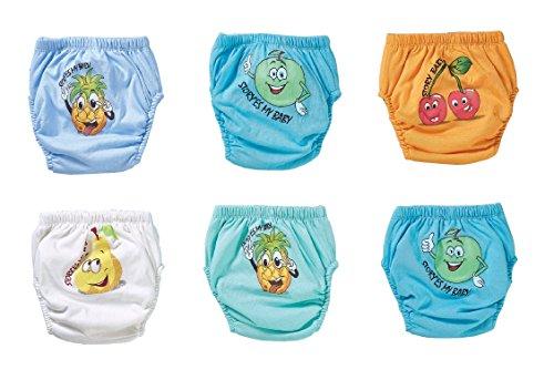 OZYOL Obst 6er Pack Wasserdicht Baby Lernwindel Trainerhosen Unterwäsche Windeln Windelhose zum Toilettentraining Töpfchentraining (Set, 80) (Herren-unterwäsche Obst)