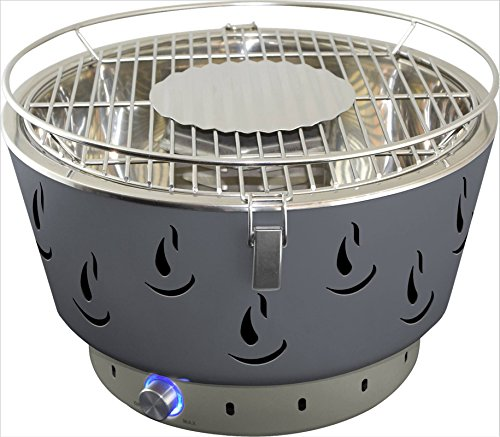 ACTIVA Grill Set Tischgrill AIRBROIL Junior inkl. Brennpaste und Grillzange, Holzkohlegrill mit Aktivbelüftung