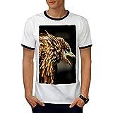 faucon Furieux Crier Prédateur Faucon Homme L T-shirt à sonnerie | Wellcoda