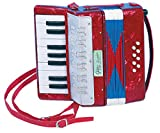 Kinder Akkordeon Harmonica Zieharmonica aus Holz 17 Tasten