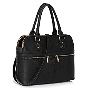 Womens Handbags Ladies Designer Shoulder Bag Faux Leather 3 Compartments Tote New Celebrity Style Large
