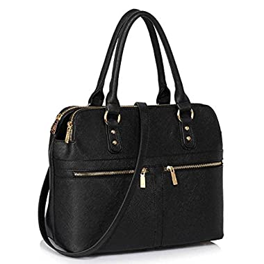 Womens Handbags Ladies Designer Shoulder Bag Faux Leather 3 Compartments Tote New Celebrity Style Large Handbags