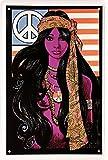 Hippie flower power girl 60 Ž s woodstock 'peace' 20 x 30 cm déco 1456 affiche