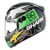 Shark Helm Motorrad Race R Pro Carbon Redding DT, Schwarz/Weiß, Größe M