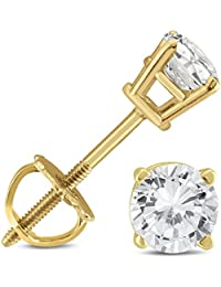 Original McPearl Solitär Diamant Ohrstecker, 1ct. Top Qualität aus der Manufaktur.