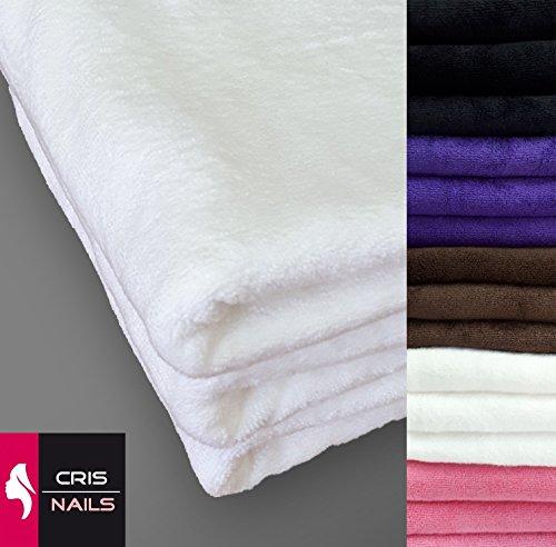 Crisnails® asciugamani sportivi in microfibra assorbente rapido confezione da 3, 35cmx75cm, diverse colori, bianco, pack-3