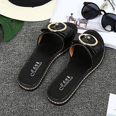Zormey Damen Sandalen Komfort Slingback Leichte Sohle Pu Sommer Outdoor Casual Flachem Absatz Weiß Schwarz Braun Flach US6 / EU36 / UK4 / CN36