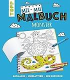 Mix-Max-Malbuch Monster: ausmalen - umblättern - neu erfinden