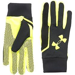 Under Armour Guantes de jugador de fútbol soccer Field Players Gloves, otoño/invierno, hombre, color negro, tamaño XL