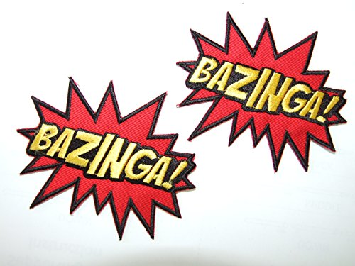 OneKool Bazinga- The Big Bang Theory Aufnäher Bügelbild Iron on Patches Applikation Neu Set of 4 by