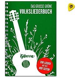 Das Große Grüne Volksliederbuch fur Gitarre - 200 Lieder - Songbook mit Dunlop Plek - Bosworth Musikverlag BOE7889 9783865439840