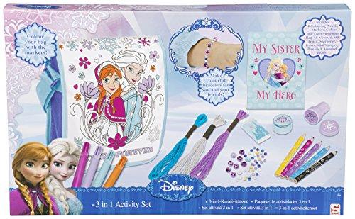 Disneys Frozen Die Eiskönigin 3 in 1 kreativ Set Mädchen Tasche inkl. Bastel- und Malzubehör