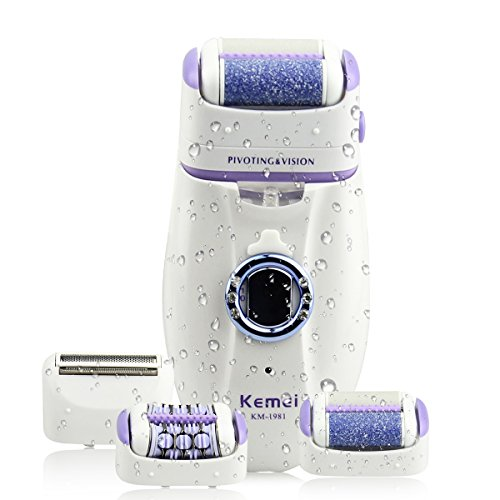 51CGjt8FSnL - 3 IN 1 Women Lady's Electric Rechargeable Body Hair Shaver Epilator Callus Remover Bikini Line Smooth Leg Armpit Trimmer Reviews and price compare uk