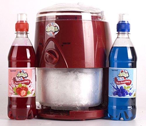 classic-red-lickleys-snow-cone-ice-shaver-slushy-maker-makes-home-ice-drinks-snow-cones-slurpees-mac