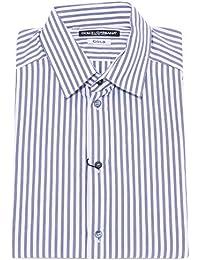 Dolce   Gabbana 5168Y Camicia Uomo White Blue Gold Cotton Shirt Man 2fd96f6d0cd