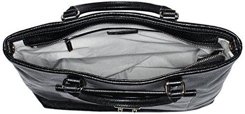 CINQUEFrancesca Handtasche - Borsa con Maniglia Donna Nero (Schwarz (schwarz 9000 9000))