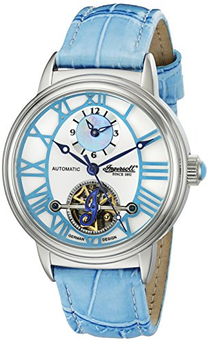 Ingersoll Women's IN5004BL Baton Rogue Analog Display Automatic Self Wind Blue Watch